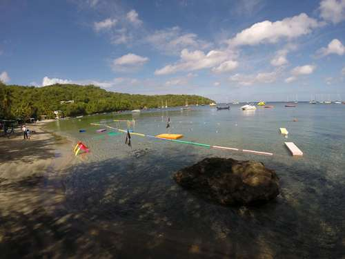 Une superbe plage pour l'école de natation avec CARAÏBES NATATION